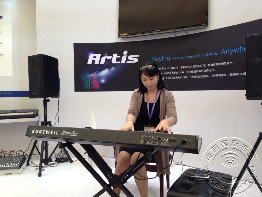 Music China 2013 展会视频:Kurzweil Artis 电钢现场演奏