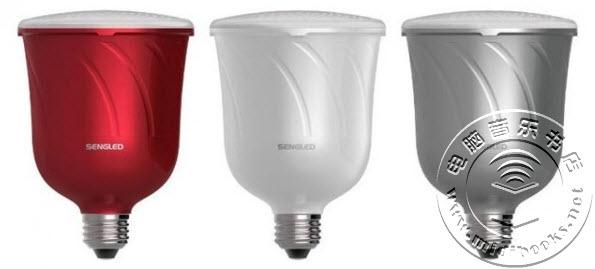 音响效果最好的LED灯泡:内置JBL无线扬声器