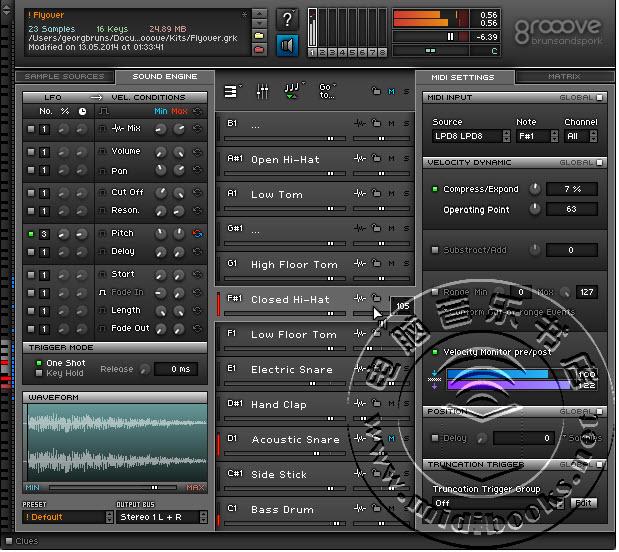 Grooove:用在Mac和PC电脑下的虚拟鼓机