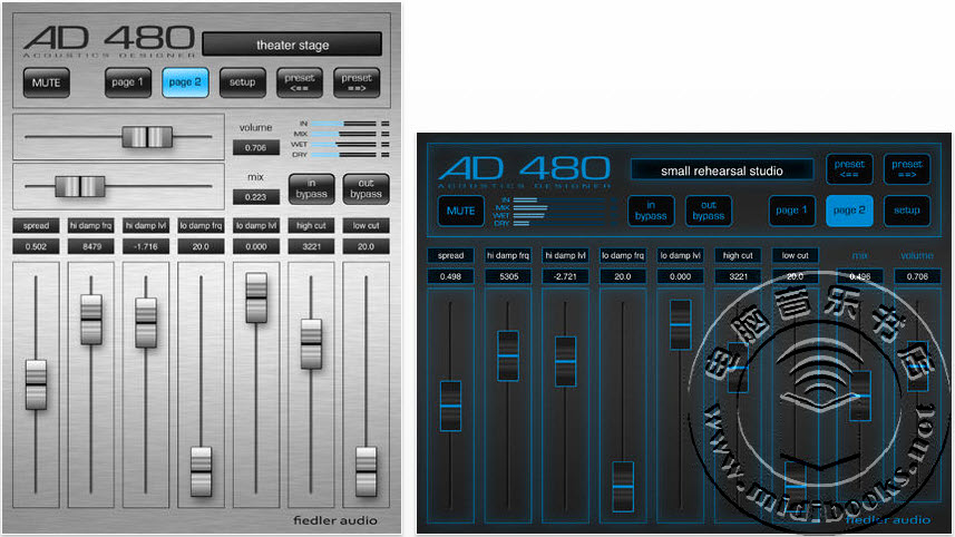 用于iOS系统下的Fiedler AD 480 混响应用更新到1.3版