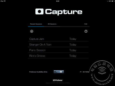 2014年夏季NAMM展会:PreSonus发布iPad版Capture软件