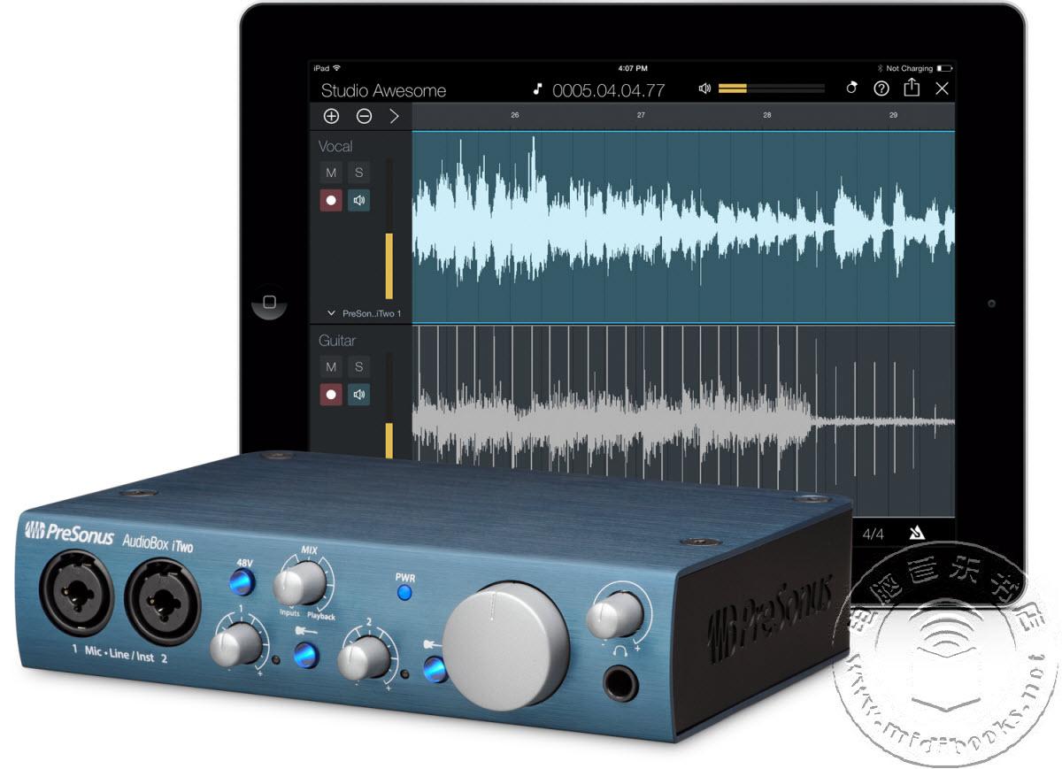 2014年夏季NAMM展会:PreSonus发布两款新的音频接口AudioBox iOne和AudioBox iTwo【视频】