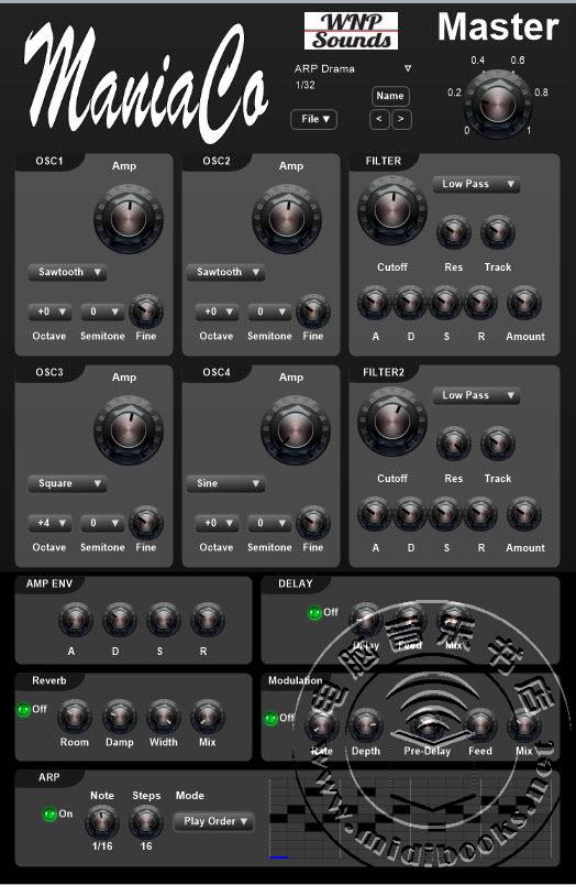 WNP Sounds发布用于Windows系统下的ManiaCo合成器