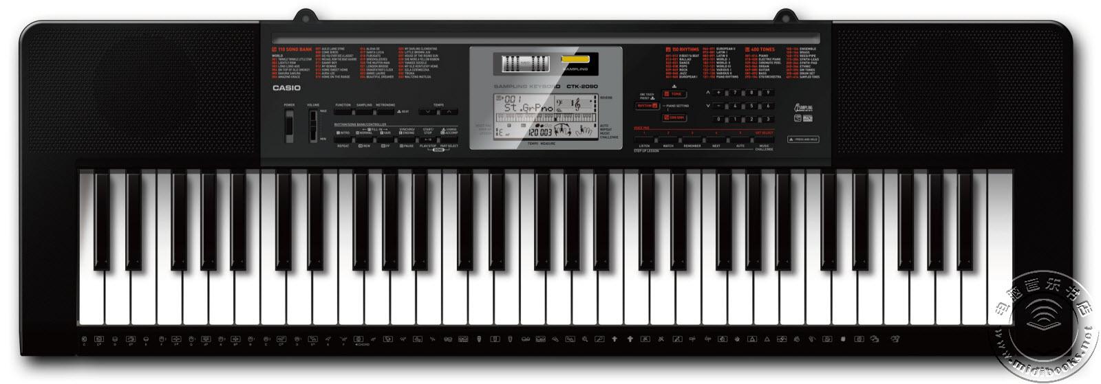卡西欧(CASIO)发布CTK-2090和LK-175V采样键盘