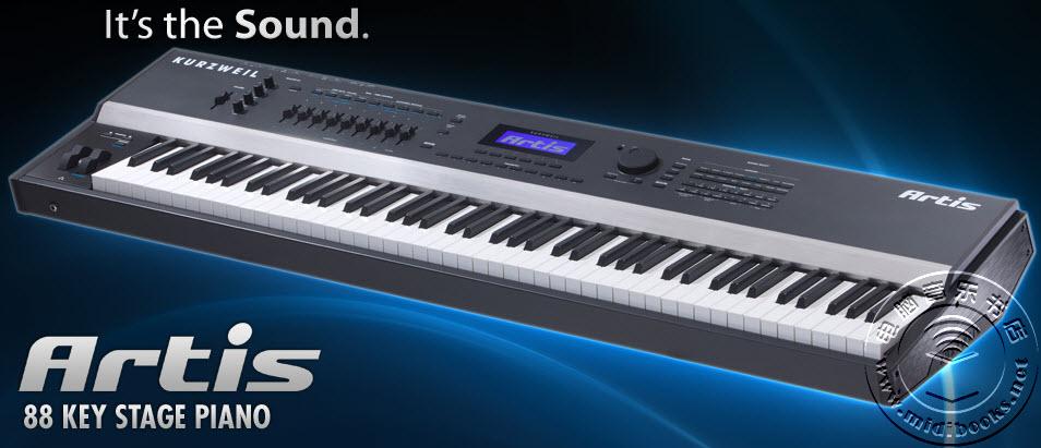 Kurzweil Artis 高端舞台电钢琴海量演示视频