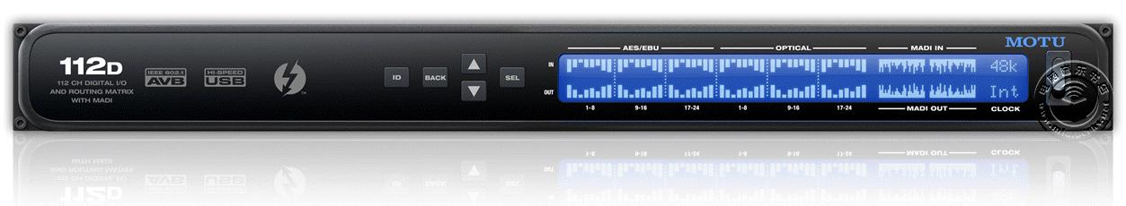 [NAMM2015]MOTU 发布112D USB/雷电/AVB音频接口