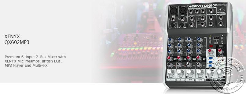 [NAMM2015]Behringer(百灵达)发布 Xenyx QX602MP3 小型调音台(视频)