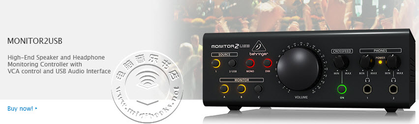 [NAMM2015]Behringer(百灵达)发布 Monitor2USB 监听控制器和音频接口