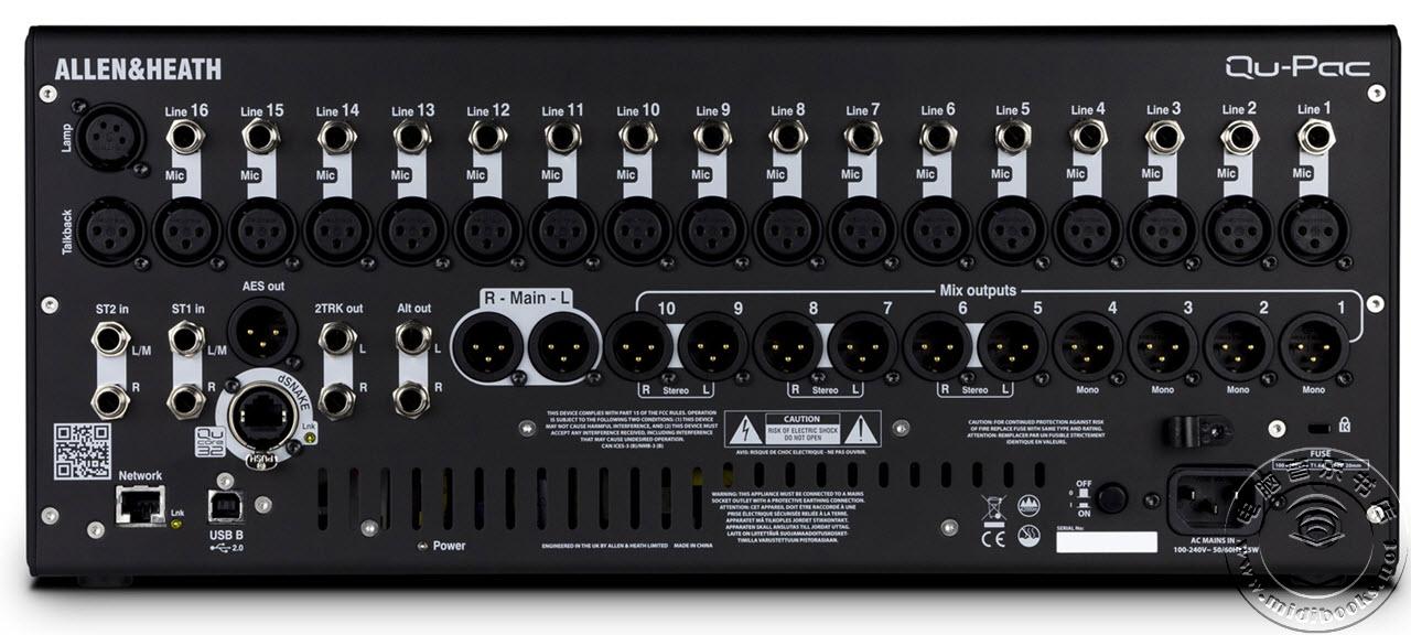 Allen & Heath发布Qu-Pac超紧凑数字调音台(视频)
