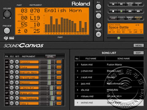 Roland发布用于iOS系统的SOUND Canvas软波表