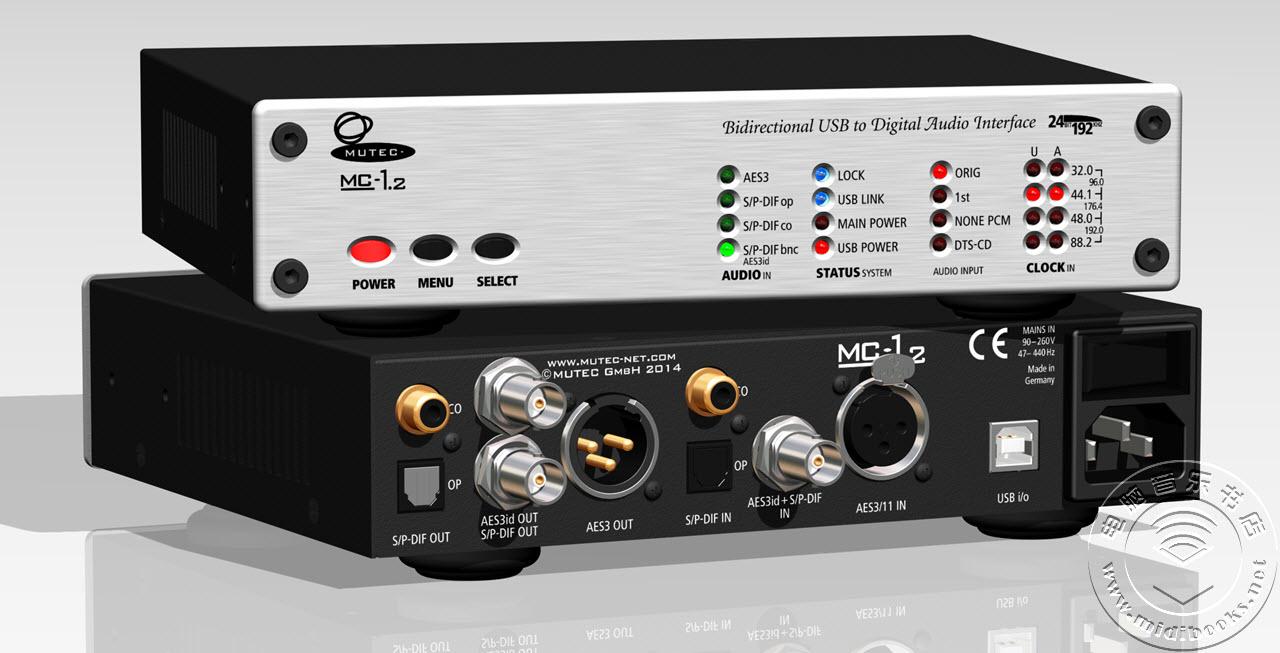 Mutec 发布 MC-1.2 数字音频接口和转换器