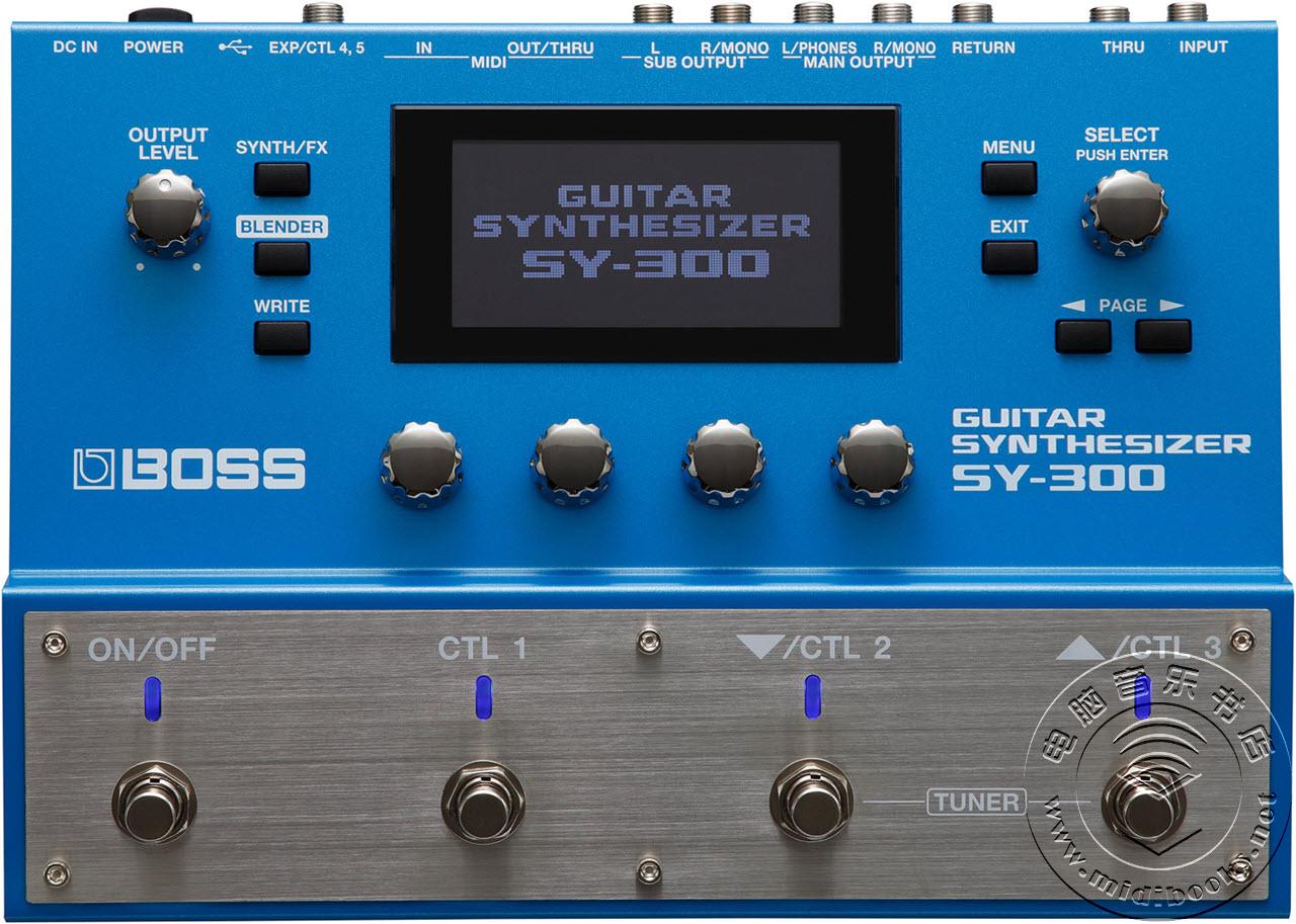 [Musikmesse 2015] Boss 发布 SY-300 吉他合成器踏板(多效果器)