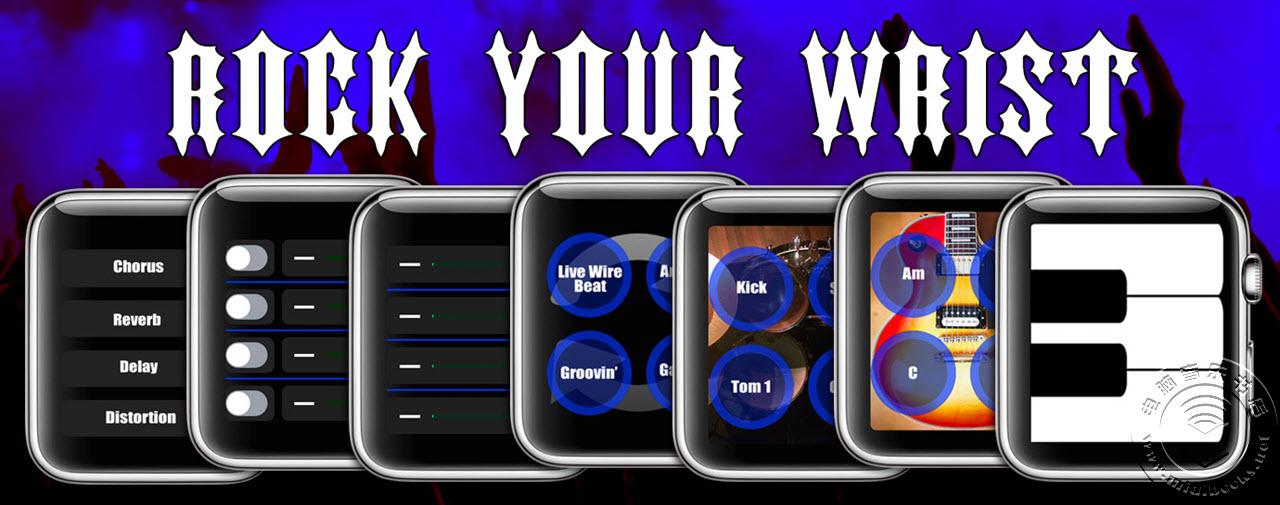 FingerTaps发布带有MIDI控制功能的Apple Watch表带Watch Band应用