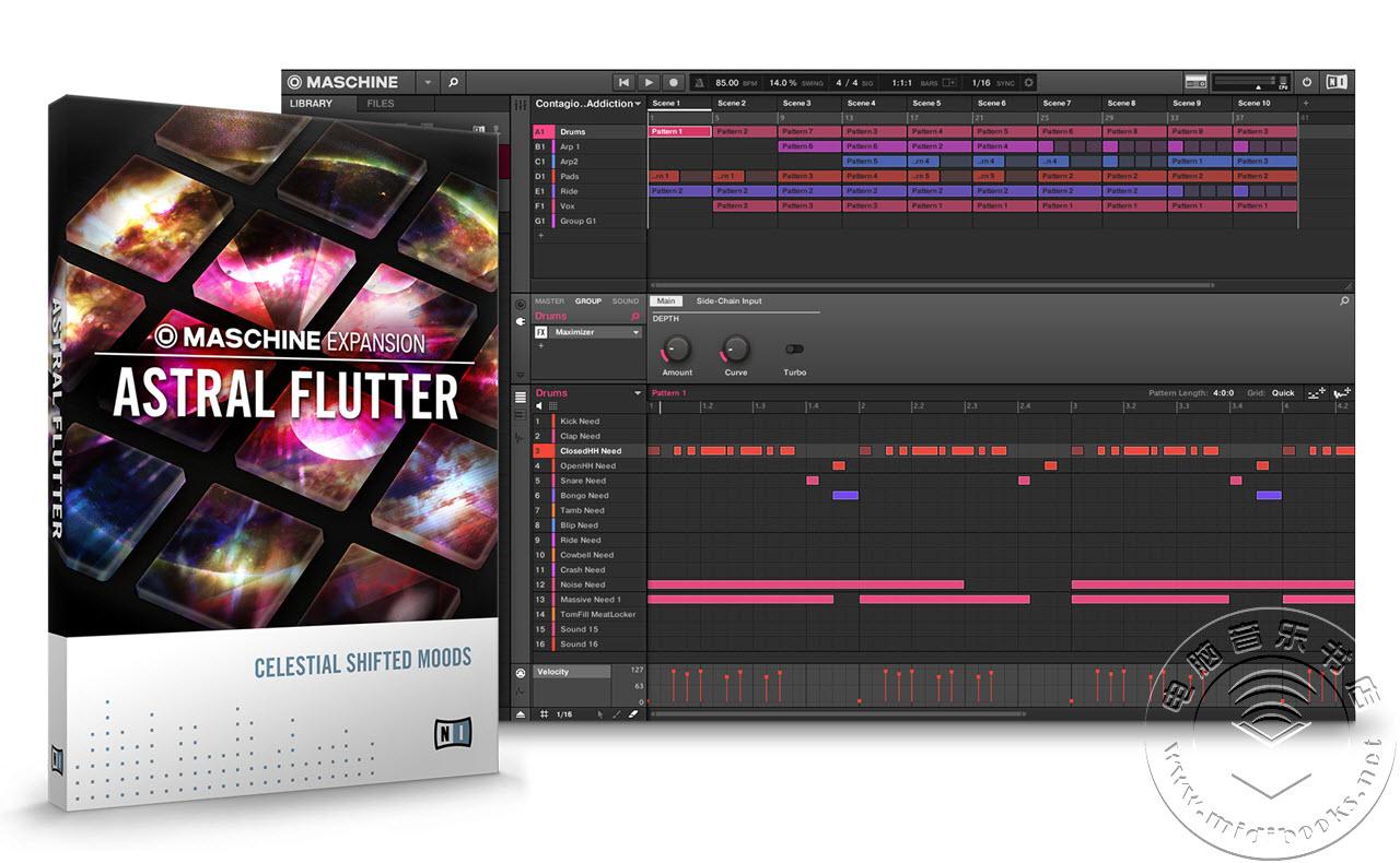 NI 发布用于 Maschine 的Astral Flutter(星体震颤)扩展包