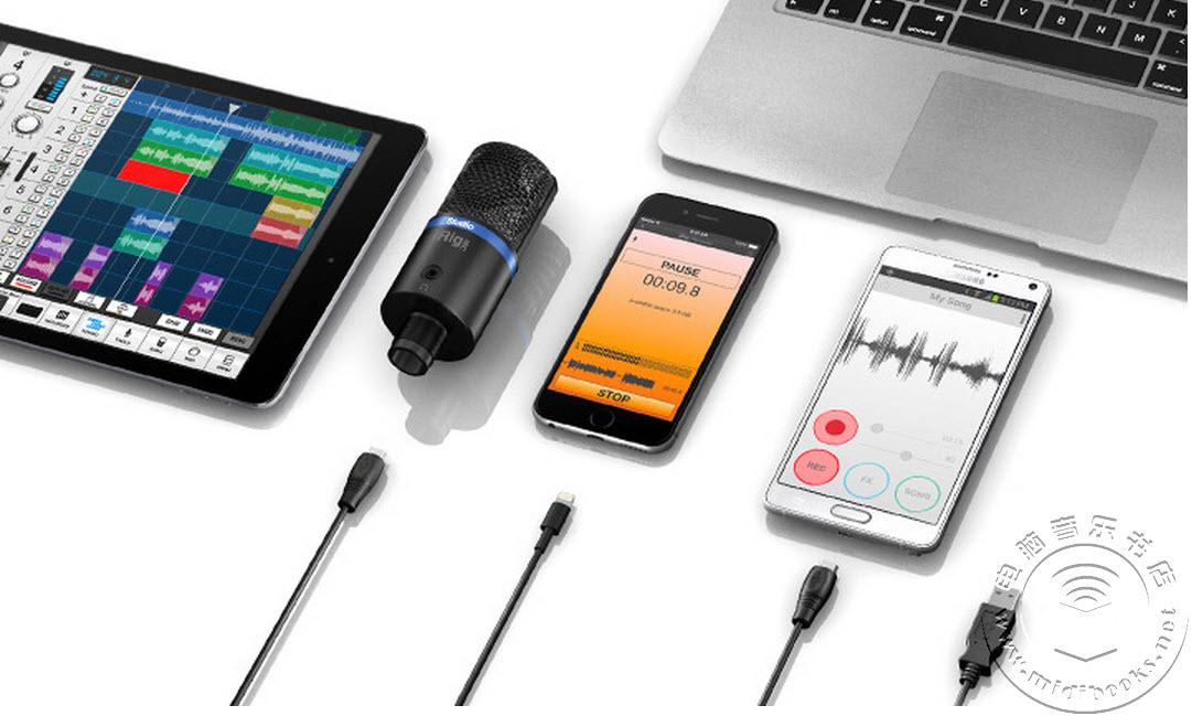 IK发布便携式大振膜数字麦克风