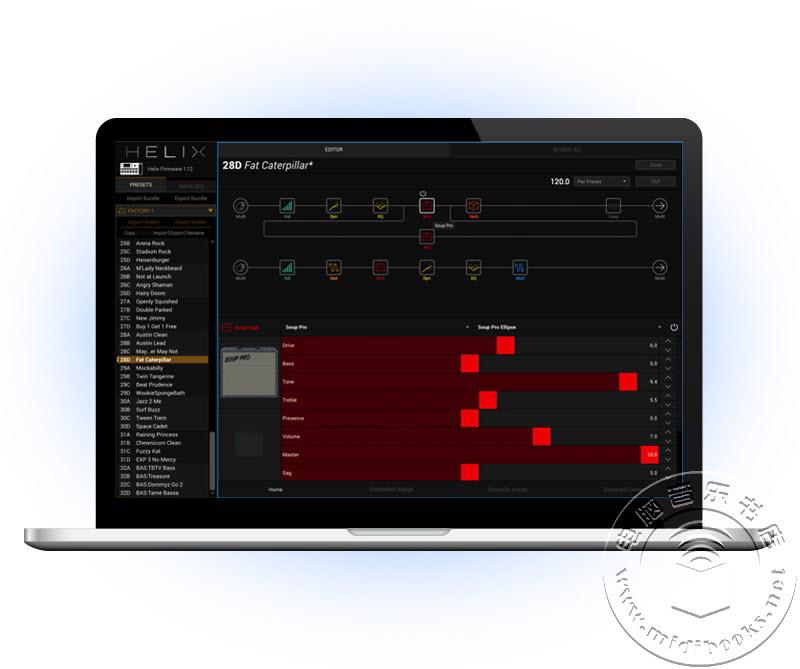免费的 HELIX 音色编辑软件