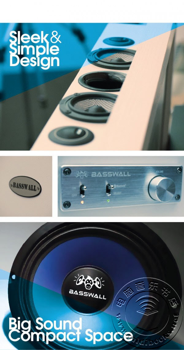 Basswall:一款隐藏在画框里的200瓦蓝牙音响