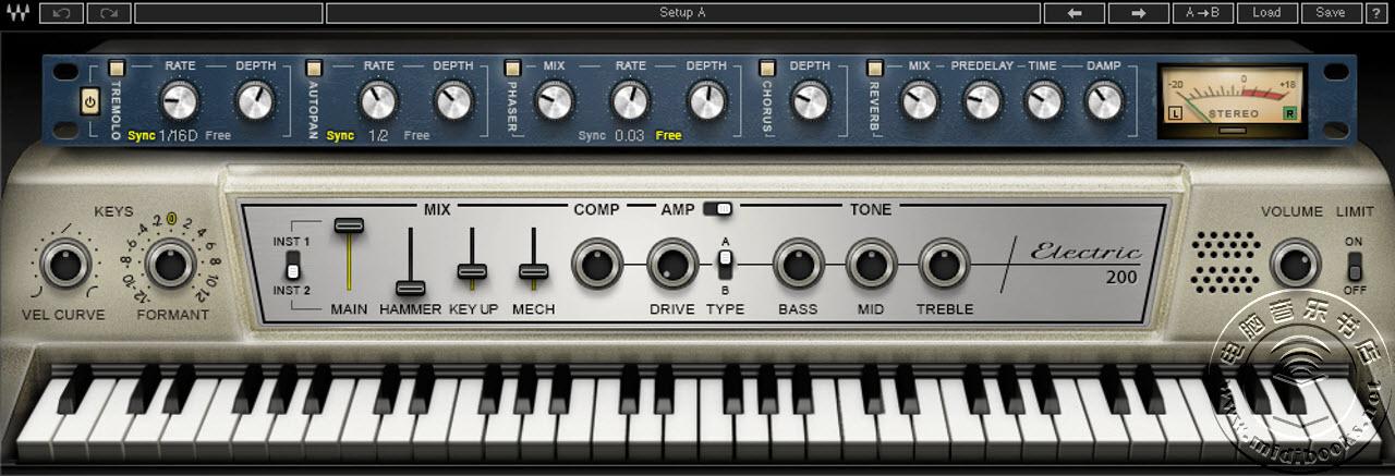 Waves 发布 Waves Electric 200 虚拟钢琴(视频)