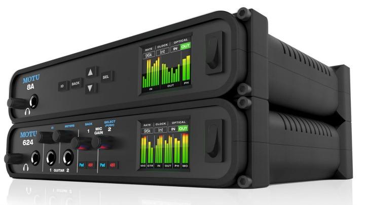 MOTU 推出 624 和 8A音频接口,支持雷电和USB3.0以及AVB