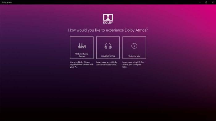 杜比全景声官方应用登陆Windows Store 支持1天耳机试用