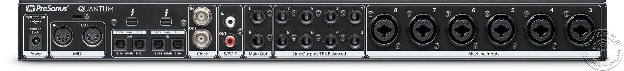 Presonus发布旗舰级雷电(Thunderbolt)音频接口 Quantum(视频)
