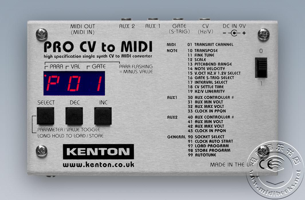 Kenton推出Pro CV to MIDI转换器