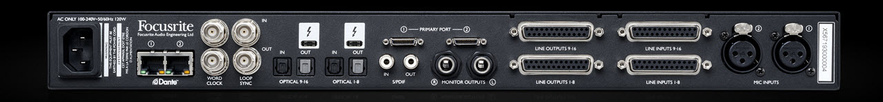 Focusrite 发布64进/64出高端音频接口 Red 16Line