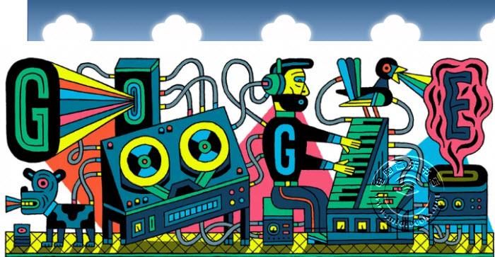 Google涂鸦今天纪念著名的电子音乐工作室成立66周年