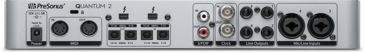 PreSonus 发布22进24出 Quantum 2 雷电(Thunderbolt)音频接口