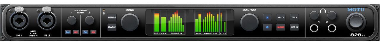 MOTU发布28进32出高端音频接口828ES