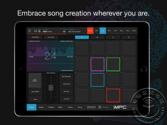 Akai 发布 iMPC Pro 2 移动鼓机应用