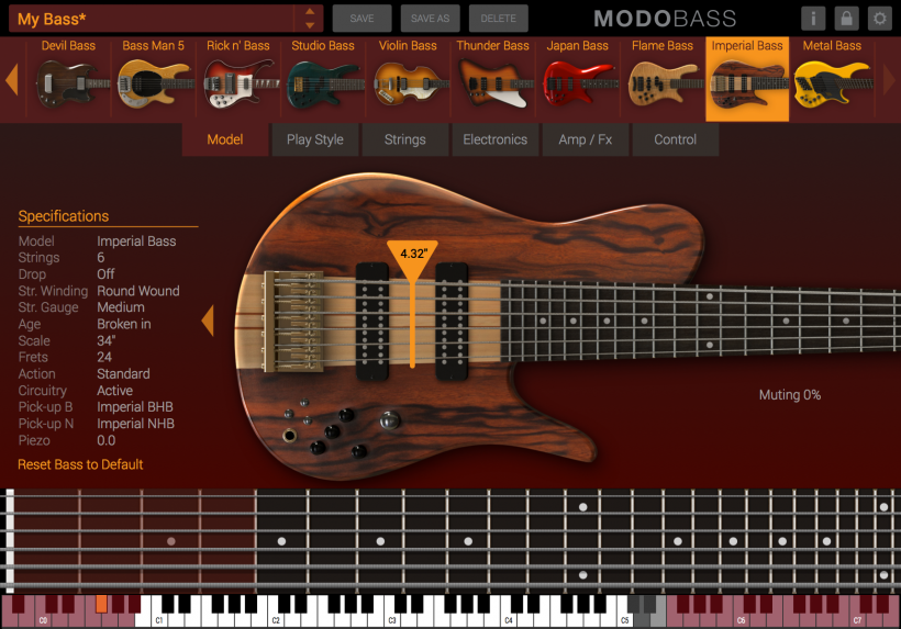 IK Multimedia 更新 MODO BASS 贝斯合成器软件,加入新模型和新功能