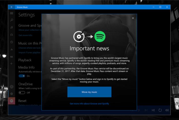 微软再发提醒:Groove Music将于本月关闭