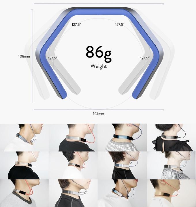 挂颈式AI智能耳机 Vinci 2.0正众筹