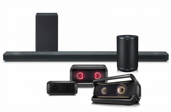 LG提前公布2018年音响产品线 配备Meridian Audio音频技术