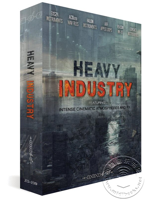 Zero-G发布重工业(Heavy Industry)音效包:带有强烈的电影氛围和FX效果
