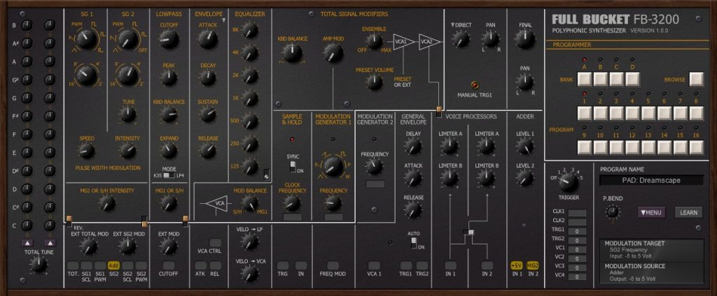 珍贵的Korg PS-3200复音合成器模拟软件免费下载