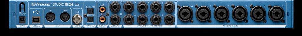 PreSonus 发布 Studio 1810 和 Studio 1824 USB 2.0 音频接口