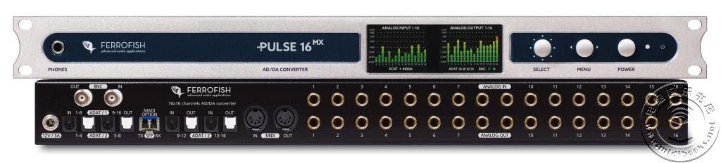 NAMM 2018:Ferrofish 发布带 MADI 的 Pulse16 MX 音频接口