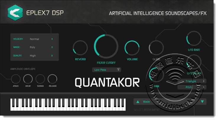 Eplex7 DSP 发布未来音乐风格软件合成器 Quantakor(视频)