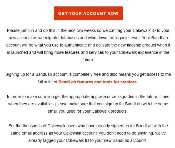 CAKEWALK 用户注目:收拾下准备搬家到 bandLab 咯