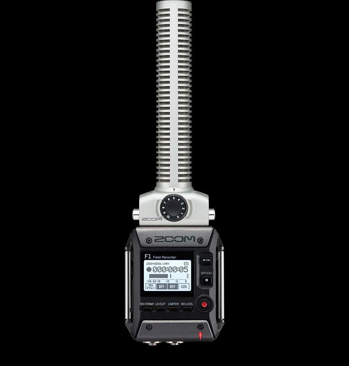 Zoom发布可以互换使用枪式或领夹式麦克风的F1现场录音机