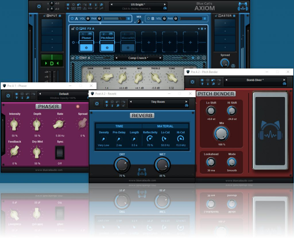 Blue Cat Audio(蓝猫音频)发布 Axiom多效果处理器和放大器模拟软件