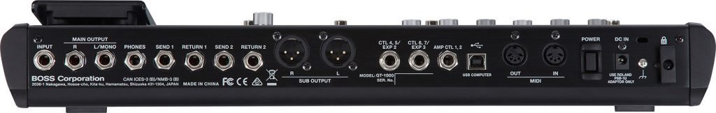 BOSS 发布 GT-1000 脚踏式多重吉他效果器