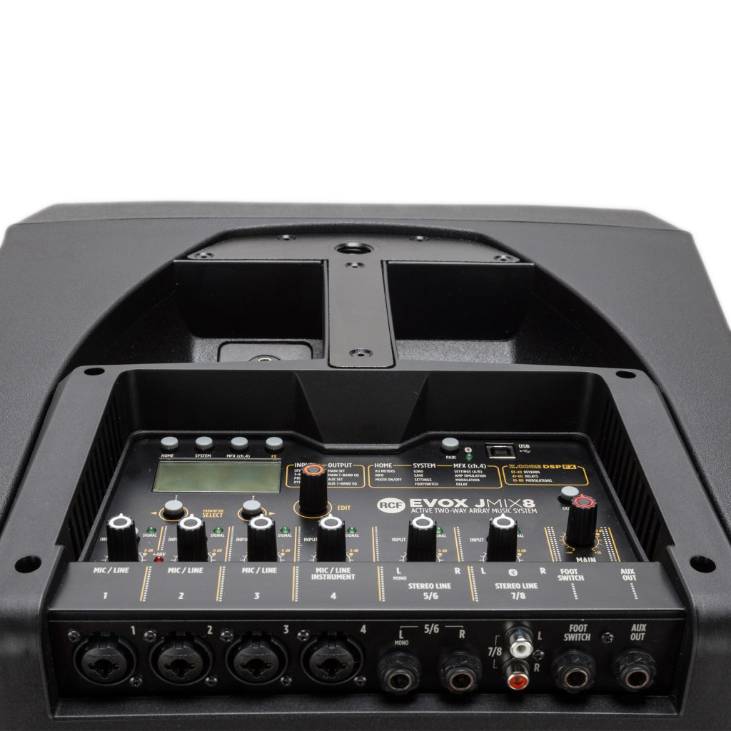 RCF推出流行的EVO系列便携式前置放大器(PA)新品J8和JMIX8