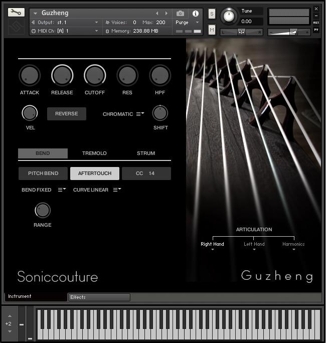 Soniccouture 发布古筝(Guzheng)v2版,支持Kontakt Player和NKS