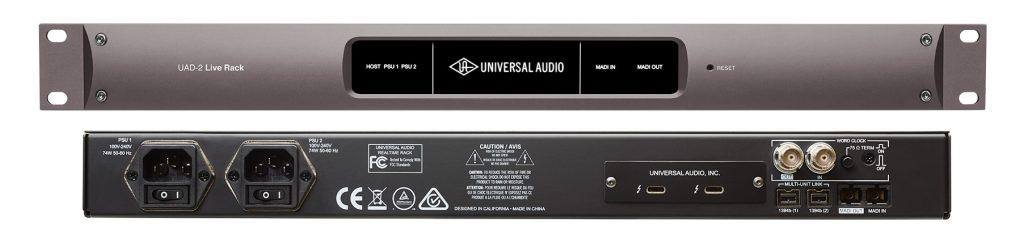 Universal Audio(通用音频)发布 UAD-2 Live Rack(UAD-2现场机架)