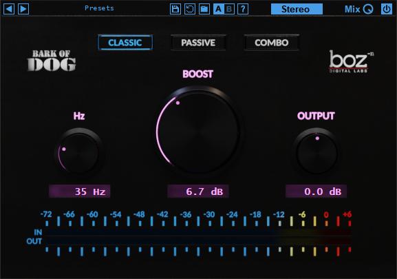Boz数字实验室升级免费高通滤波器Bark of Dog到第二版