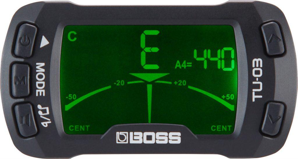 BOSS 发布 TU-03 夹式调谐器和节拍器