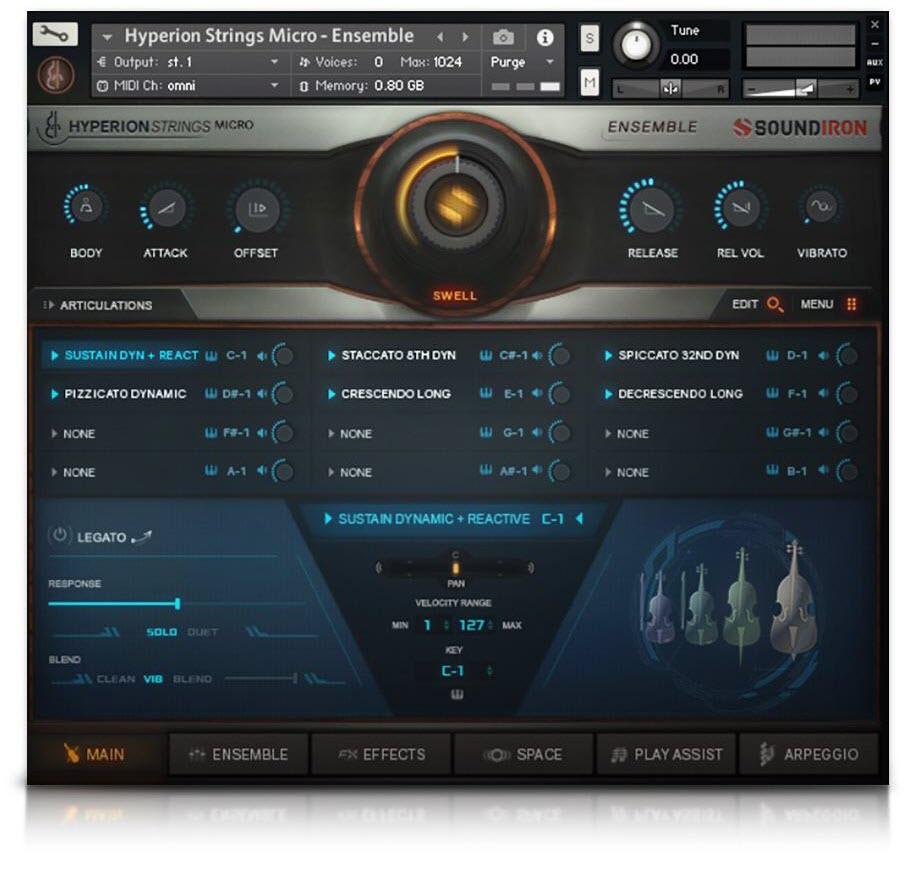 Soundiron 发布 Hyperion Strings Micro 管弦乐音色库
